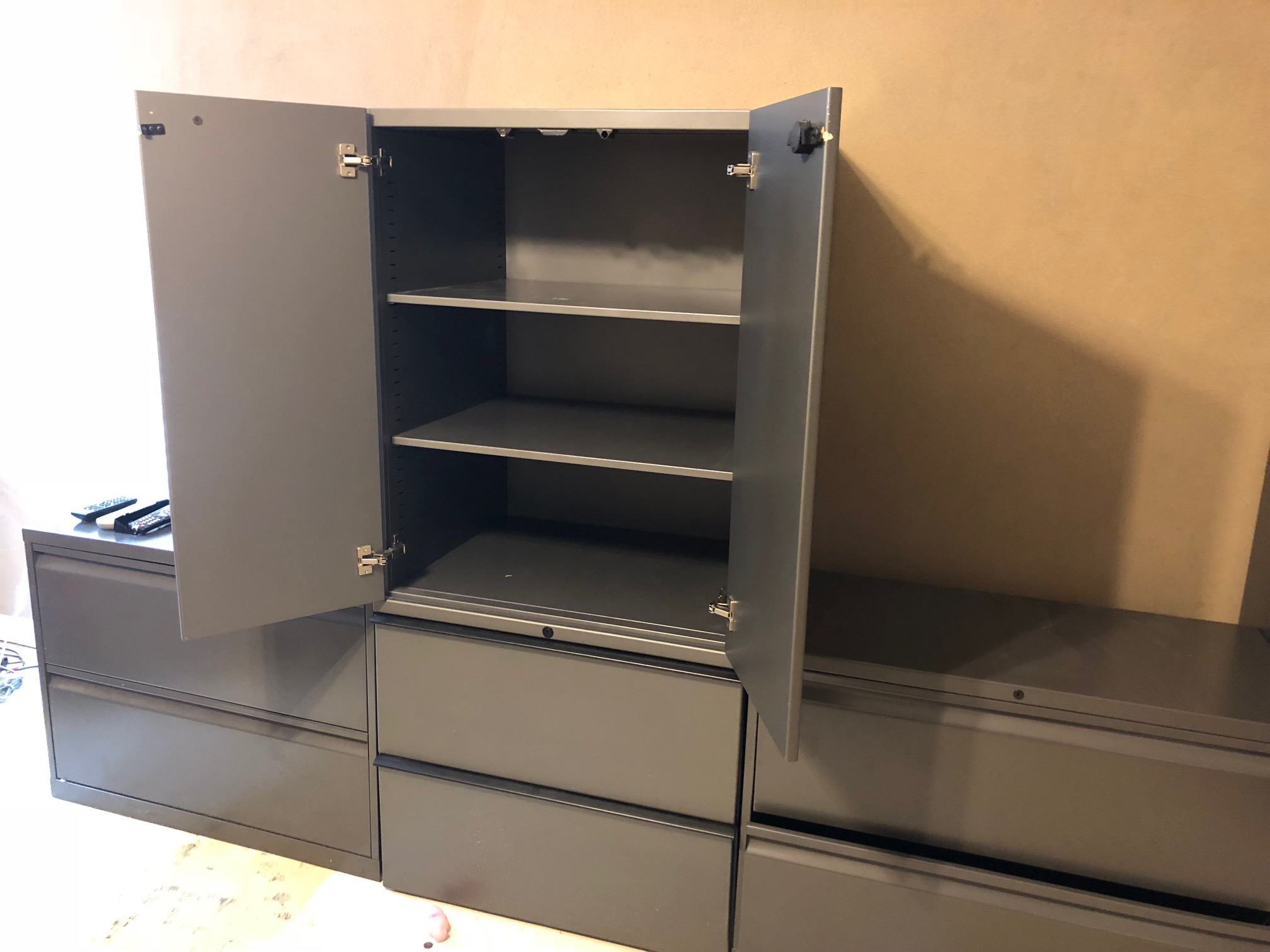 Edwardsville IL – 4 metal business cabinets with lateral file storage (9261) - Image 1